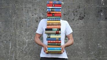 Bildung Bücher Stapel